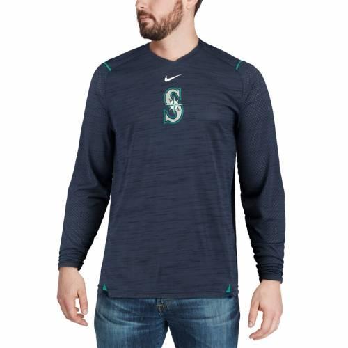 ナイキ NIKE シアトル マリナーズ スリーブ パフォーマンス Tシャツ 紺 ネイビー メンズファッション トップス カットソー メンズ 【 Seattle Mariners Ac Breathe Long Sleeve Performance T-shirt - Navy 】