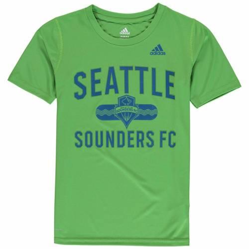 アディダス ADIDAS シアトル 子供用 Tシャツ 緑 グリーン キッズ ベビー マタニティ トップス ジュニア 【 Seattle Sounders Fc Youth Sprint Climalite T-shirt - Rave Green 】 Rave Green