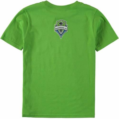 アディダス ADIDAS シアトル 子供用 エレメント Tシャツ 緑 グリーン キッズ ベビー マタニティ トップス ジュニア 【 Seattle Sounders Fc Youth Element T-shirt - Rave Green 】 Rave Green