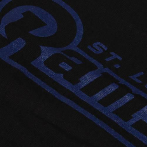 マジェスティック MAJESTIC マジェスティック クラシック ラムズ スリーブ Tシャツ 黒 ブラック ST. 【 SLEEVE BLACK MAJESTIC CLASSIC LOUIS RAMS UP AND OVER LONG TSHIRT 】 メンズファッション トップス Tシ