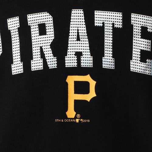 ニューエラ NEW ERA ピッツバーグ 海賊団 子供用 ジャージ ブイネック Tシャツ 黒 ブラック キッズ ベビー マタニティ トップス ジュニア 【 Pittsburgh Pirates Girls Youth Baby Jersey V-neck T-shirt - Bl