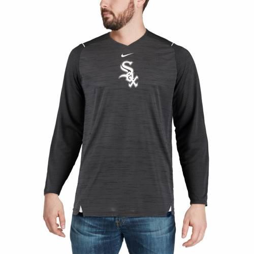 ナイキ NIKE シカゴ 白 ホワイト スリーブ パフォーマンス Tシャツ 黒 ブラック メンズファッション トップス カットソー メンズ 【 Chicago White Sox Ac Breathe Long Sleeve Performance T-shirt - Black 】
