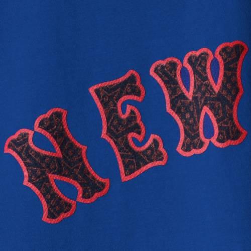 マジェスティック MAJESTIC メッツ 子供用 Tシャツ キッズ ベビー マタニティ トップス ジュニア 【 Noah Syndergaard New York Mets Youth Stars And Stripes Name And Number T-shirt - Royal 】 Royal