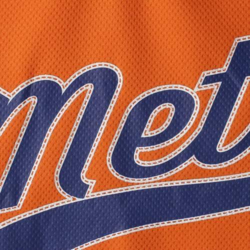 STITCHES メッツ 子供用 ブイネック ジャージ Tシャツ キッズ ベビー マタニティ トップス ジュニア 【 New York Mets Girls Youth V-neck Jersey T-shirt - Orange/royal 】 Orange/royal