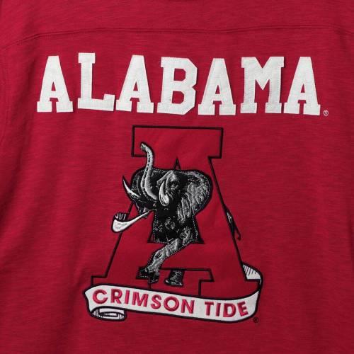 スターター STARTER アラバマ スリーブ Tシャツ メンズファッション トップス カットソー メンズ 【 Alabama Crimson Tide Old School Football Long Sleeve T-shirt - Crimson/gray 】 Crimson/gray
