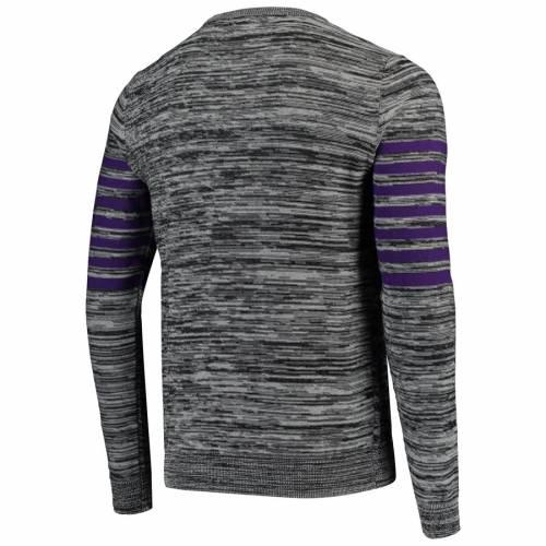 FOCO ミネソタ バイキングス ニット ヘンリー スリーブ Tシャツ 灰色 グレー グレイ メンズファッション トップス カットソー メンズ 【 Minnesota Vikings Marled Knit Henley Long Sleeve T-shirt - Gray 】