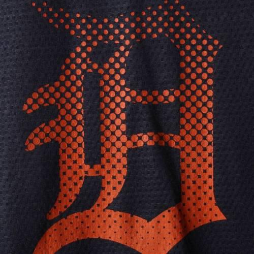 STITCHES デトロイト タイガース 子供用 ブイネック ジャージ Tシャツ キッズ ベビー マタニティ トップス ジュニア 【 Detroit Tigers Youth Mesh V-neck Jersey T-shirt - Navy/orange 】 Navy/orange
