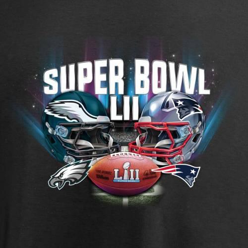 NFL PRO LINE BY FANATICS BRANDED ペイトリオッツ フィラデルフィア イーグルス Tシャツ 黒 ブラック Vs. メンズファッション トップス カットソー メンズ 【 New England Patriots Vs. Philadelphia Eagles Supe