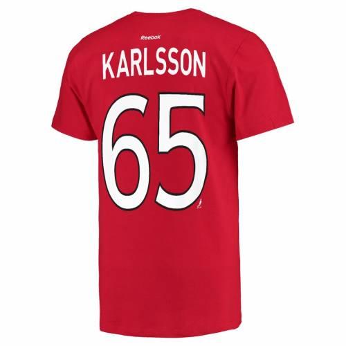 リーボック REEBOK Tシャツ 赤 レッド メンズファッション トップス カットソー メンズ 【 Erik Karlsson Ottawa Senators Name And Number Player T-shirt - Red 】 Red