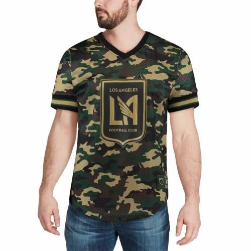 ミッチェル&ネス MITCHELL & NESS ブイネック Tシャツ メンズファッション トップス カットソー メンズ 【 Lafc Mitchell And Ness Camo Mesh V-neck T-shirt - Camo 】 Camo