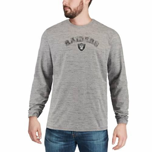 TOMMY BAHAMA レイダース ボックス スリーブ Tシャツ 灰色 グレー グレイ メンズファッション トップス カットソー メンズ 【 Las Vegas Raiders Fronds In The Box Long Sleeve T-shirt - Heathered Gray 】 Heather