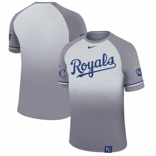 ナイキ NIKE カンザス シティ ロイヤルズ レジェンド ラグラン Tシャツ プラチナム メンズファッション トップス カットソー メンズ 【 Kansas City Royals Legend Raglan T-shirt - Platinum 】 Platinum