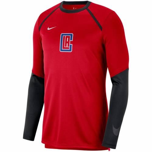 ナイキ NIKE クリッパーズ シティ スリーブ シューティング Tシャツ 赤 レッド メンズファッション トップス カットソー メンズ 【 La Clippers City Edition Long Sleeve Shooting T-shirt - Red 】 Red