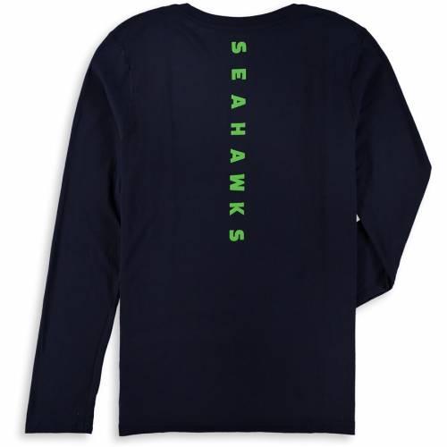 OUTERSTUFF シアトル シーホークス 子供用 ウルトラ スリーブ Tシャツ カレッジ 紺 ネイビー キッズ ベビー マタニティ トップス ジュニア 【 Seattle Seahawks Youth Flux Ultra Long Sleeve T-shirt - College