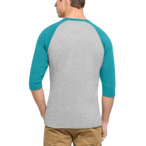 '47 マイアミ ドルフィンズ ラグラン Tシャツ 灰色 グレー グレイ メンズファッション トップス カットソー メンズ 【 Miami Dolphins Lockdown Raglan 3/4-sleeve T-shirt - Gray 】 Gray