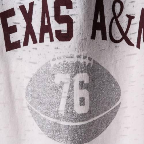GARB テキサス ベビー 赤ちゃん用 スリーブ ストライプ Tシャツ 赤ちゃん 幼児 キッズ マタニティ トップス ジュニア 【 Texas Aandm Aggies Girls Toddler Long Sleeve Stripe Football T-shirt - White/maroon 】 W