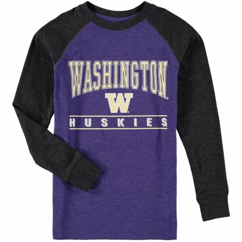 COLOSSEUM ワシントン 子供用 ラグラン スリーブ Tシャツ 紫 パープル キッズ ベビー マタニティ トップス ジュニア 【 Washington Huskies Youth Kryton Raglan Long Sleeve T-shirt - Purple 】 Purple