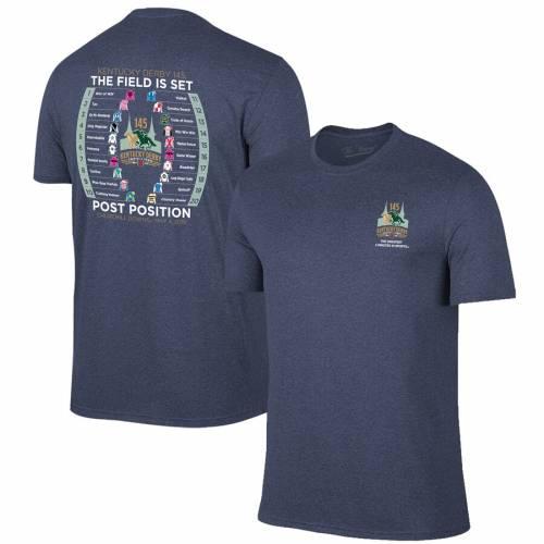 ORIGINAL RETRO BRAND ケンタッキー Tシャツ メンズファッション トップス カットソー メンズ 【 Kentucky Derby 145 Post Draw T-shirt 】 Heather Navy
