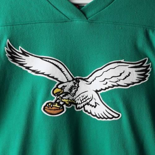 ミッチェル&ネス MITCHELL & NESS フィラデルフィア イーグルス チーム ブイネック スリーブ Tシャツ 緑 グリーン メンズファッション トップス カットソー メンズ 【 Philadelphia Eagles Mitch