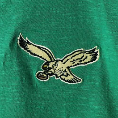 ミッチェル&ネス MITCHELL & NESS フィラデルフィア イーグルス スリーブ ヘンリー Tシャツ 緑 グリーン メンズファッション トップス カットソー メンズ 【 Philadelphia Eagles Mitchell And Ness