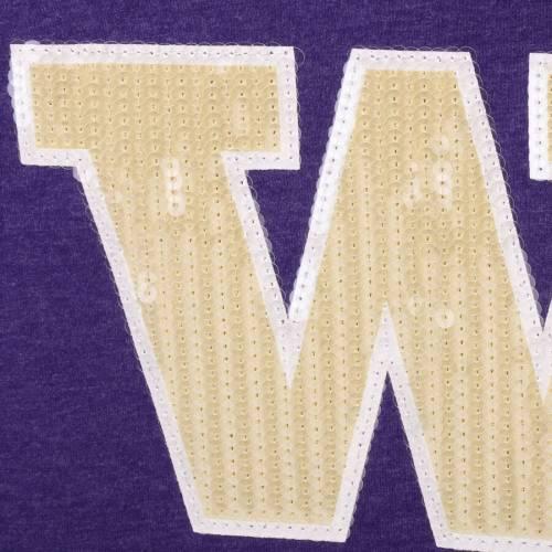 COLOSSEUM ワシントン 子供用 ブイネック Tシャツ 紫 パープル キッズ ベビー マタニティ トップス ジュニア 【 Washington Huskies Girls Youth Rugby V-neck T-shirt - Purple 】 Purple
