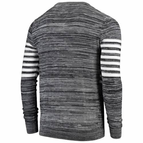 FOCO レイダース ニット スリーブ ヘンリー Tシャツ 灰色 グレー グレイ メンズファッション トップス カットソー メンズ 【 Las Vegas Raiders Retro Marled Knit Long Sleeve Henley T-shirt - Gray 】 Gray