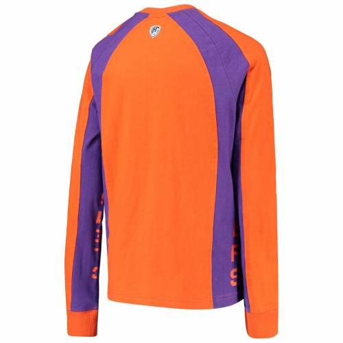 HANDS HIGH タイガース 子供用 スリーブ Tシャツ 橙 オレンジ キッズ ベビー マタニティ トップス ジュニア 【 Clemson Tigers Youth Switch Hitter Long Sleeve T-shirt - Orange 】 Orange