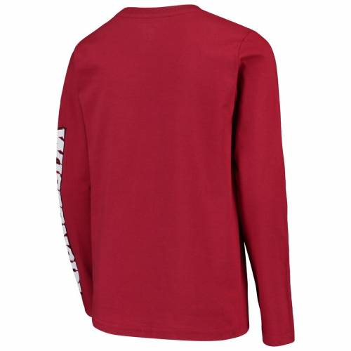 OUTERSTUFF 子供用 トランジション スリーブ Tシャツ キッズ ベビー マタニティ トップス ジュニア 【 Oklahoma Sooners Youth Transition Two-hit Long Sleeve T-shirt - Crimson 】 Crimson