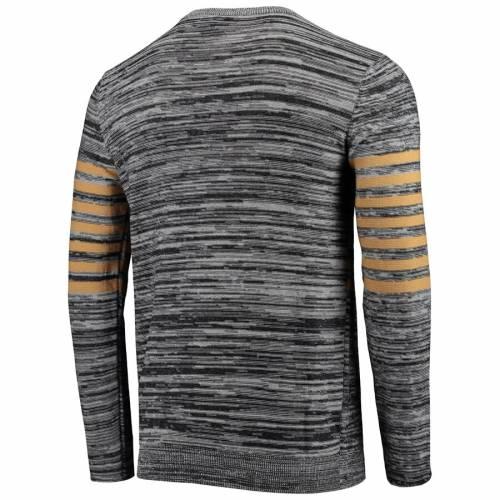 FOCO セインツ ニット スリーブ ヘンリー Tシャツ 灰色 グレー グレイ メンズファッション トップス カットソー メンズ 【 New Orleans Saints Retro Marled Knit Long Sleeve Henley T-shirt - Gray 】 Gray