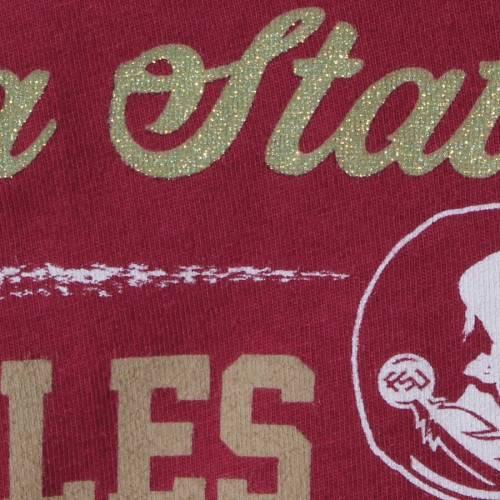 GARB フロリダ スケートボード ベビー 赤ちゃん用 スリーブ Tシャツ 赤ちゃん 幼児 キッズ マタニティ トップス ジュニア 【 Florida State Seminoles Girls Toddler Paige Football Striped Long Sleeve T-shirt -