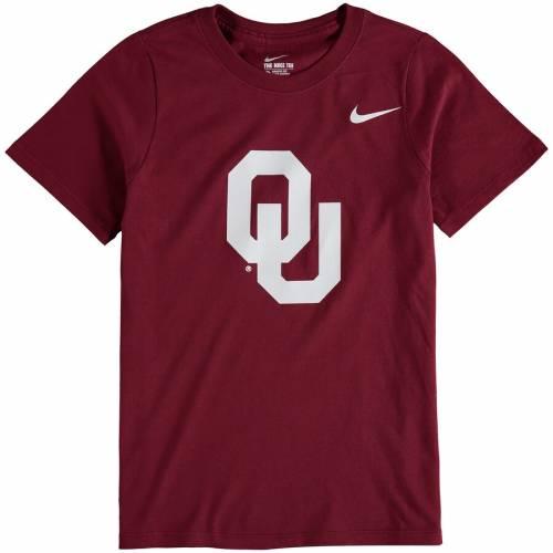 ナイキ NIKE 子供用 ロゴ Tシャツ キッズ ベビー マタニティ トップス ジュニア 【 Oklahoma Sooners Youth Cotton Logo T-shirt - Crimson 】 Crimson