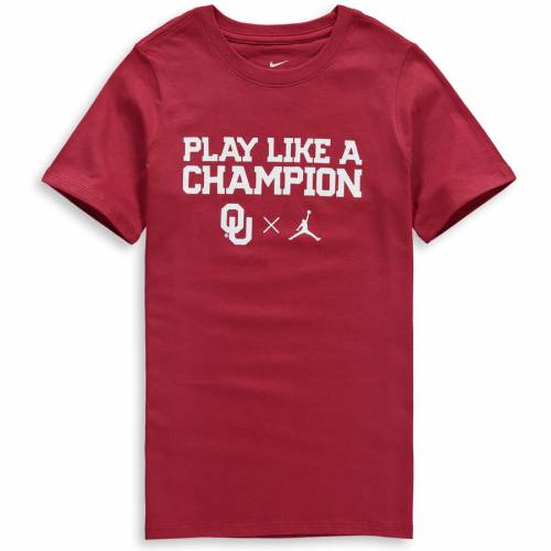 JORDAN BRAND 子供用 ロゴ Tシャツ キッズ ベビー マタニティ トップス ジュニア 【 Oklahoma Sooners Youth Logo T-shirt - Crimson 】 Crimson