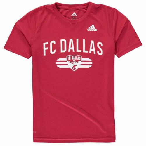 アディダス ADIDAS ダラス 子供用 Tシャツ 赤 レッド キッズ ベビー マタニティ トップス ジュニア 【 Fc Dallas Youth Sprint Climalite T-shirt - Red 】 Red