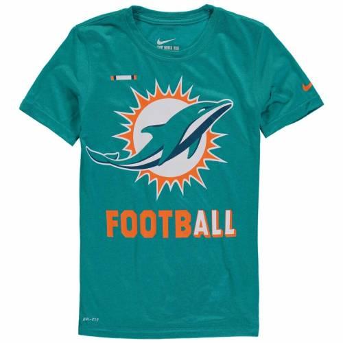 ナイキ NIKE マイアミ ドルフィンズ 子供用 レジェンド パフォーマンス Tシャツ アクア キッズ ベビー マタニティ トップス ジュニア 【 Miami Dolphins Youth Legend Football Performance T-shirt - Aqua