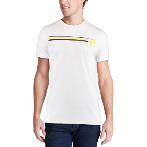 VINEYARD VINES ピッツバーグ 海賊団 ストライプ Tシャツ 白 ホワイト メンズファッション トップス カットソー メンズ 【 Pittsburgh Pirates Three Stripe T-shirt - White 】 White