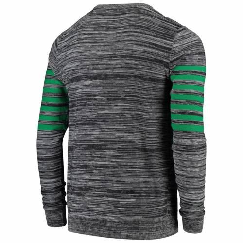 FOCO シアトル シーホークス ニット スリーブ ヘンリー Tシャツ 灰色 グレー グレイ メンズファッション トップス カットソー メンズ 【 Seattle Seahawks Retro Marled Knit Long Sleeve Henley T-shirt - Gra