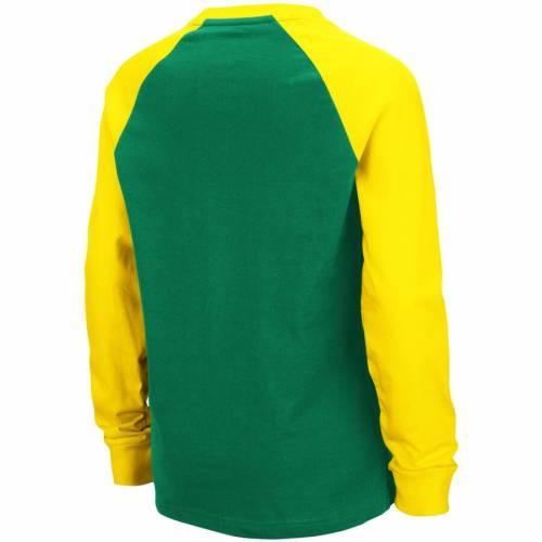 COLOSSEUM オレゴン 子供用 キャップ 帽子 ラグラン スリーブ Tシャツ 緑 グリーン キッズ ベビー マタニティ トップス ジュニア 【 Oregon Ducks Youth Beanie Raglan Long Sleeve T-shirt - Green 】 Green