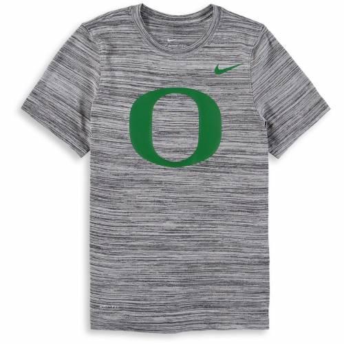 ナイキ NIKE オレゴン 子供用 レジェンド パフォーマンス Tシャツ 黒 ブラック キッズ ベビー マタニティ トップス ジュニア 【 Oregon Ducks Youth Velocity Legend Travel Performance T-shirt - Heathered Blac