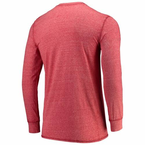 CONCEPTS SPORT ダラス ヘンリー スリーブ Tシャツ 赤 レッド メンズファッション トップス カットソー メンズ 【 Fc Dallas Podium Henley Long Sleeve T-shirt - Red 】 Red