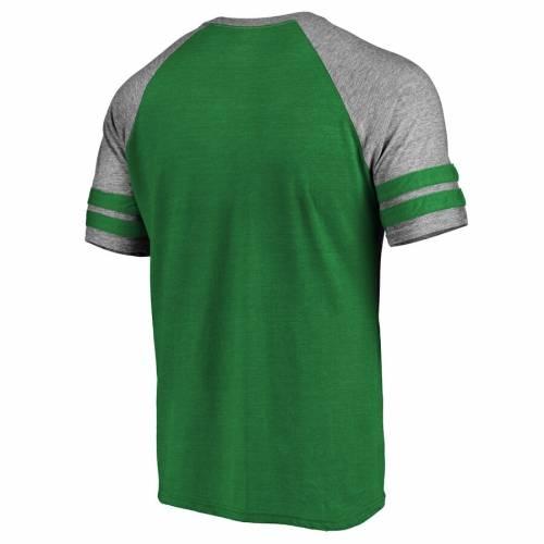 NFL PRO LINE BY FANATICS BRANDED フィラデルフィア イーグルス ロゴ ラグラン Tシャツ 灰色 グレー グレイ メンズファッション トップス カットソー メンズ 【 Philadelphia Eagles Throwback Logo Raglan Tri