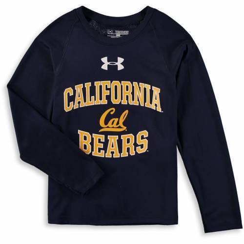 アンダーアーマー UNDER ARMOUR ベアーズ 子供用 テック パフォーマンス スリーブ Tシャツ 紺 ネイビー キッズ ベビー マタニティ トップス ジュニア 【 Cal Bears Youth Tech Performance Long Sleeve T-s