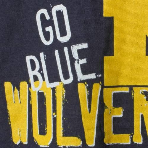 チャンピオン CHAMPION ミシガン 子供用 チーム Tシャツ 紺 ネイビー キッズ ベビー マタニティ トップス ジュニア 【 Michigan Wolverines Youth Team Chant T-shirt - Navy 】 Navy