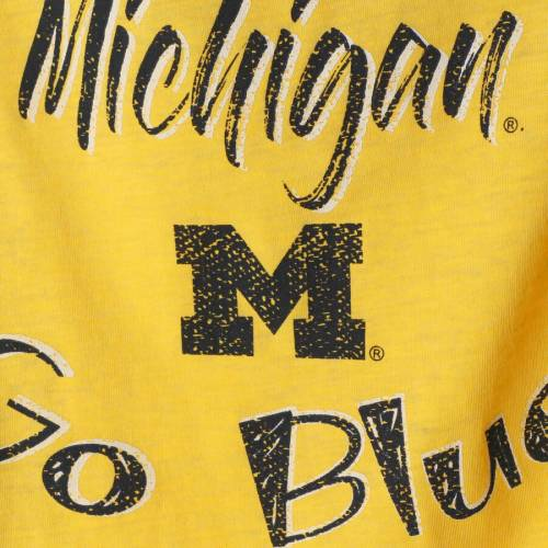 COLOSSEUM ミシガン 子供用 スリーブ Tシャツ キッズ ベビー マタニティ トップス ジュニア 【 Michigan Wolverines Girls Youth Arabesque Long Sleeve T-shirt - Maize 】 Maize