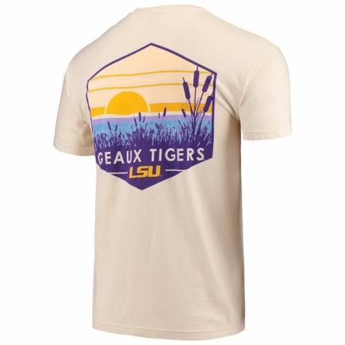 IMAGE ONE タイガース Tシャツ 【 LSU TIGERS LANDSCAPE SHIELD COMFORT COLORS POCKET TSHIRT CREAM 】 メンズファッション トップス カットソー 送料無料