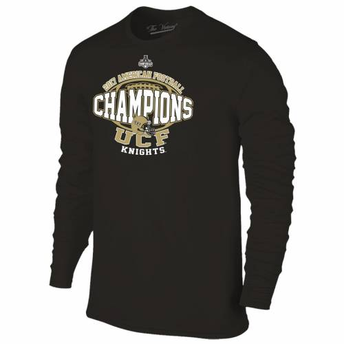 THE VICTORY ビクトリー スリーブ Tシャツ 黒 ブラック 【 VICTORY SLEEVE BLACK THE UCF KNIGHTS 2017 AAC FOOTBALL CONFERENCE CHAMPIONS LOCKER ROOM LONG TSHIRT 】 メンズファッション トップス Tシャツ カットソー