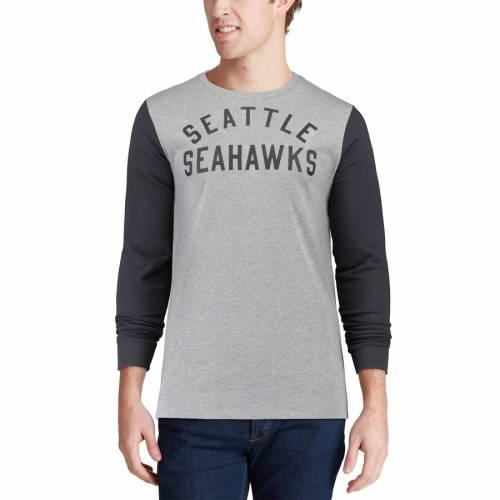 ナイキ NIKE シアトル シーホークス スリーブ Tシャツ 灰色 グレー グレイ メンズファッション トップス カットソー メンズ 【 Seattle Seahawks Heavyweight Arch Long Sleeve T-shirt - Heathered Gray 】 Heat