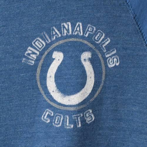JUNK FOOD インディアナポリス コルツ ラグラン Tシャツ メンズファッション トップス カットソー メンズ 【 Indianapolis Colts Contrast 3/4-sleeve Raglan Tri-blend T-shirt - Heathered Royal/royal 】 Heathered Roy