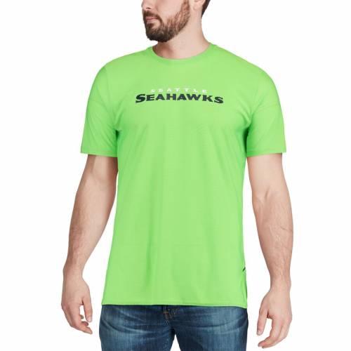 ナイキ NIKE シアトル シーホークス サイドライン Tシャツ 緑 グリーン メンズファッション トップス カットソー メンズ 【 Seattle Seahawks Sideline Player T-shirt - Neon Green 】 Neon Green