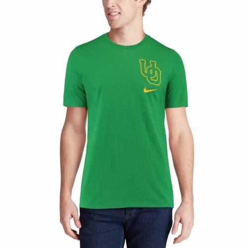 ナイキ NIKE オレゴン パフォーマンス Tシャツ 【 OREGON DUCKS PERFORMANCE COTTON RETRO TSHIRT GREEN 】 メンズファッション トップス カットソー 送料無料