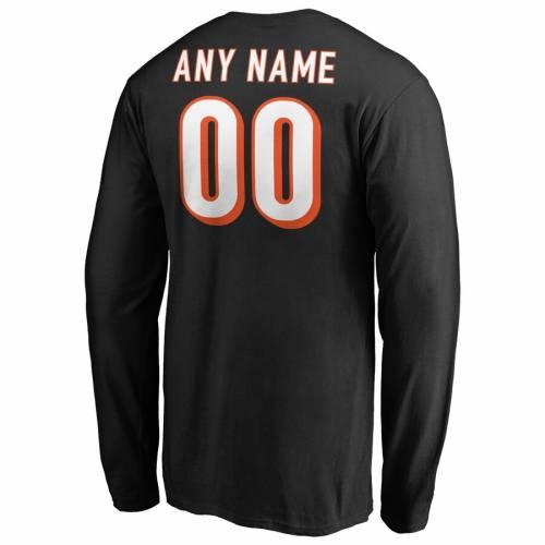 NFL PRO LINE BY FANATICS BRANDED シンシナティ ベンガルズ プロ ロゴ スリーブ Tシャツ 黒 ブラック メンズファッション トップス カットソー メンズ 【 [customized Item] Cincinnati Bengals Nfl Pro Line Any N